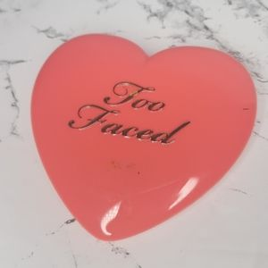 Too faced blush swatched 1x on hand